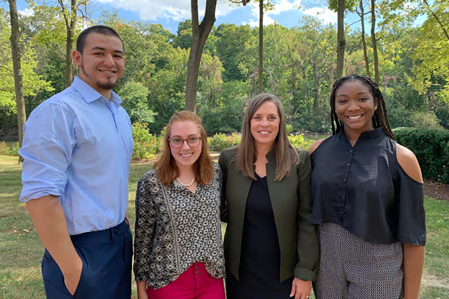 From left: Marco Colmenares, Caitlin Cummings, Carrie Booth Walling, Morgan Armstrong