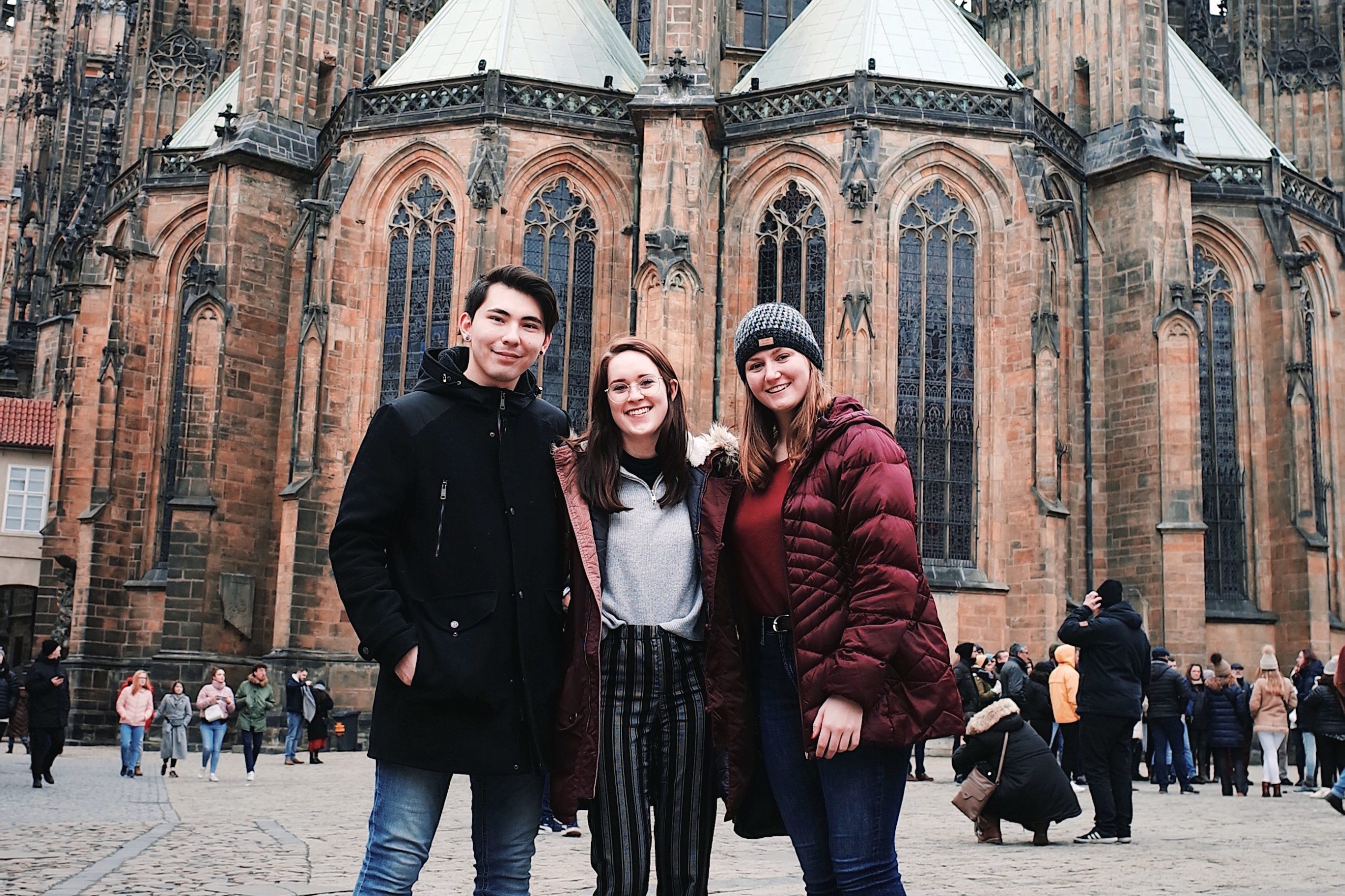 Jessica Butchley with friends in Berlin, Germany