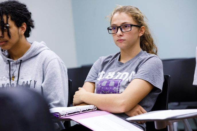 Albion College students in a classroom setting