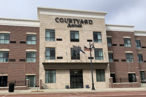 The Courtyard Marriott on South Superior Street.