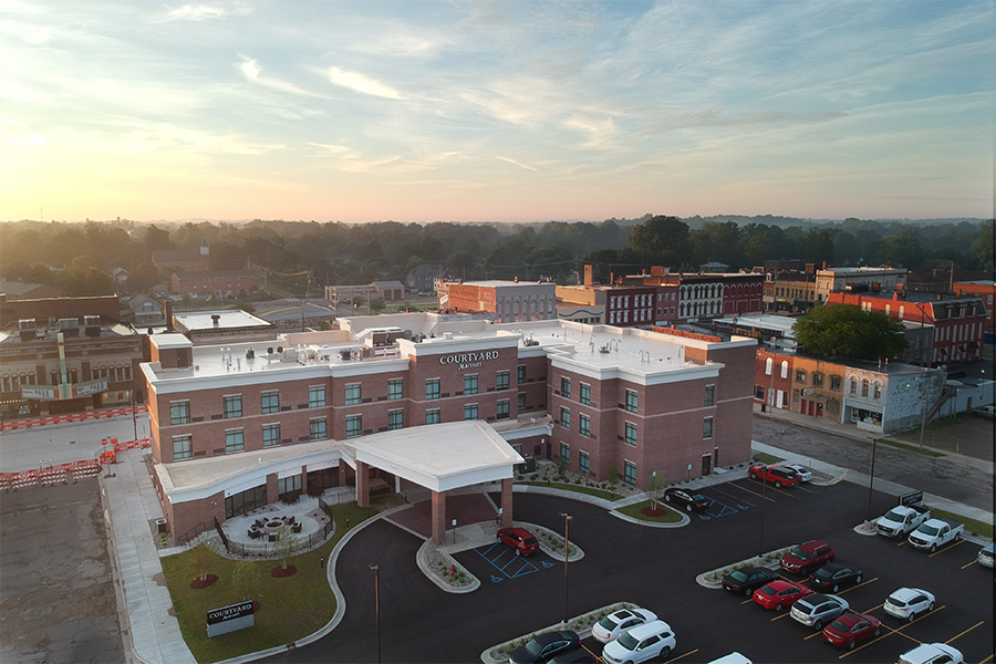 The Courtyard Marriott in downtown Albion.