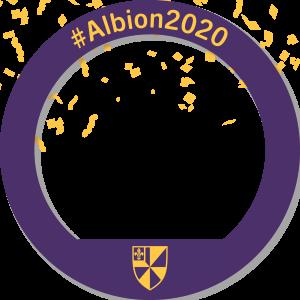 A circular Facebook frame that reads #Albion2020