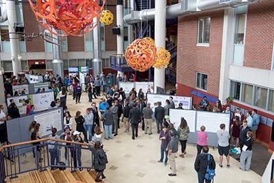 Albion College's Science Complex atrium