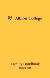 Albion College Faculty Handbook 2021-22