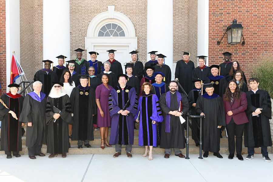 Platform party, Inauguration, Albion College, September 18, 2021