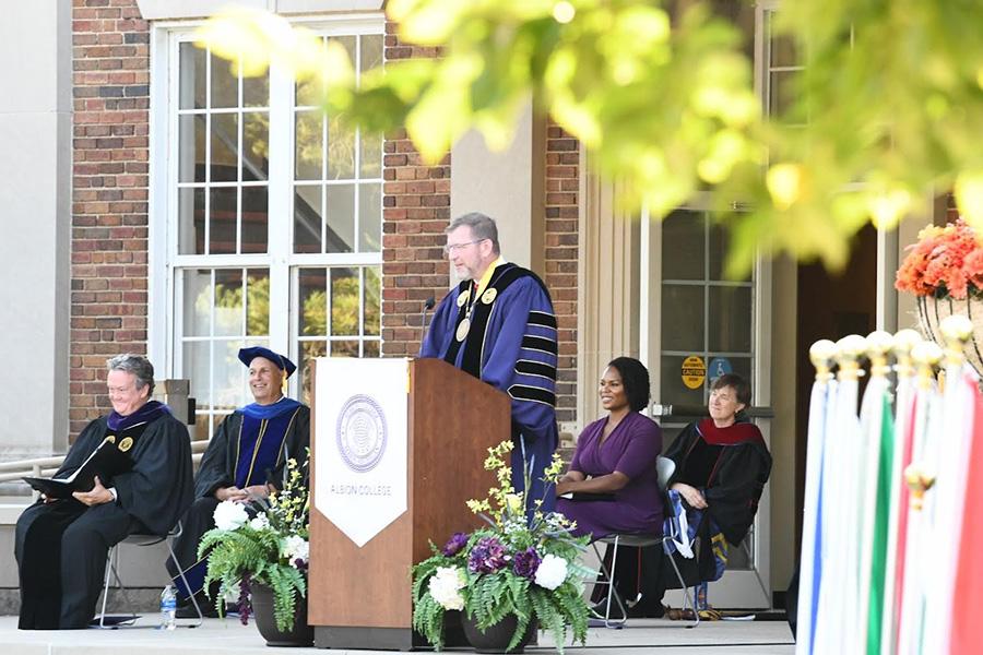 Albion College President Dr. Mathew B. Johnson, Inauguration, Sept. 18, 2021