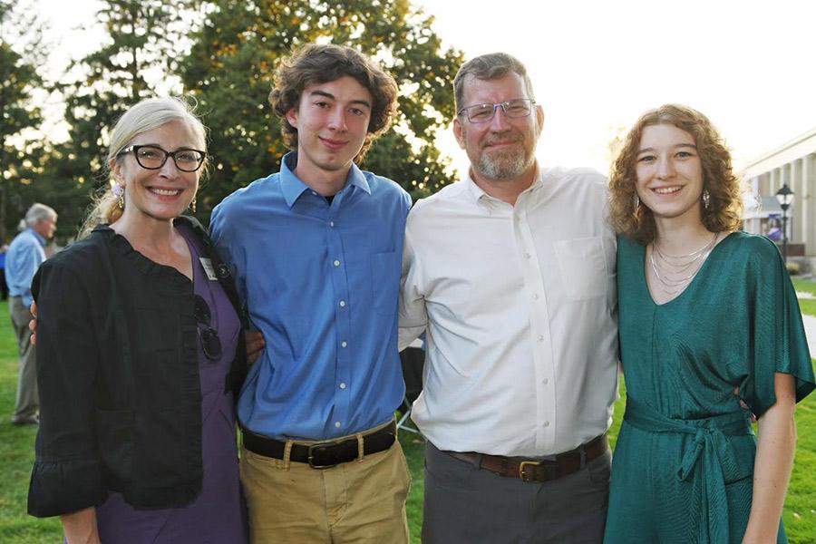 President Johnson (second from right), Dr. Shannon O'Neill (far left)